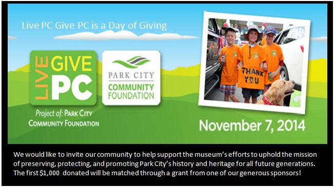 live PC Give PC Logo for home page - Park City Museum
