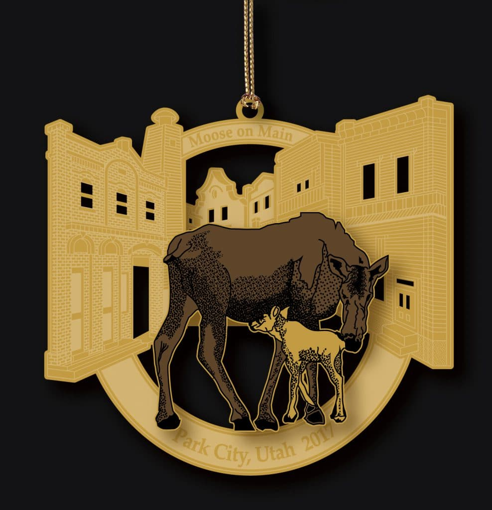 Moose on Main Street 2017 ornament
