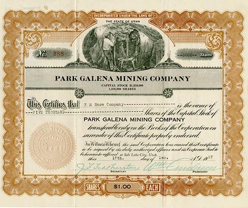 Silver Star Mining Company stock.