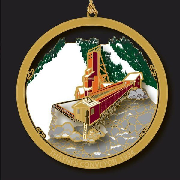 2019 Holiday Ornament - Thaynes Conveyor 1934 - Park City Museum