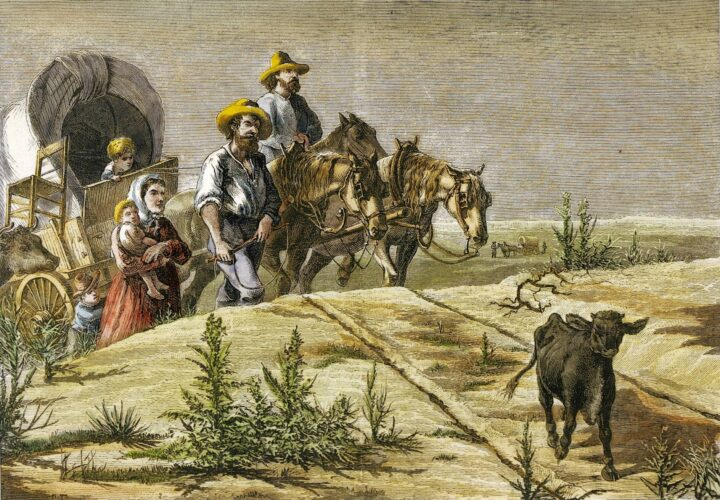 Arkansas Pilgrims Print by Tavernier and Frenzeny, courtesy of Claudine Chalmers