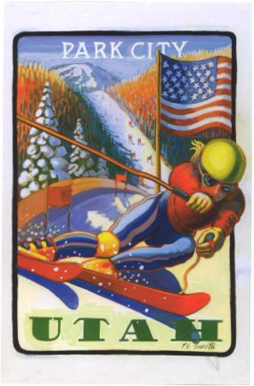 Park City Postcard by P.E. Smith - Park City Museum